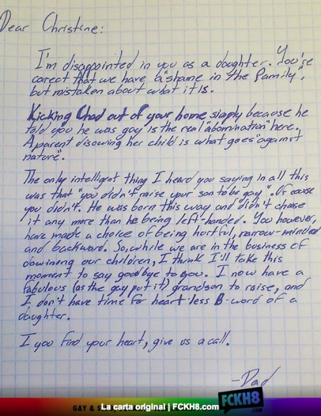 carta de un padre a su hija