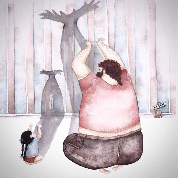 ilustraciones papa hija 10