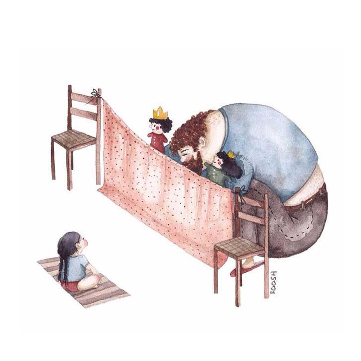 ilustraciones papa hija 14