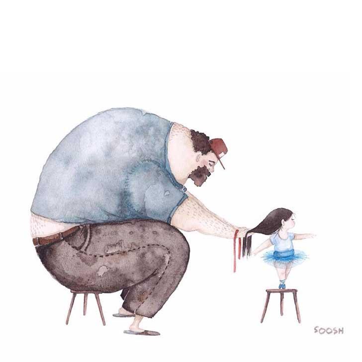 ilustraciones papa hija 15