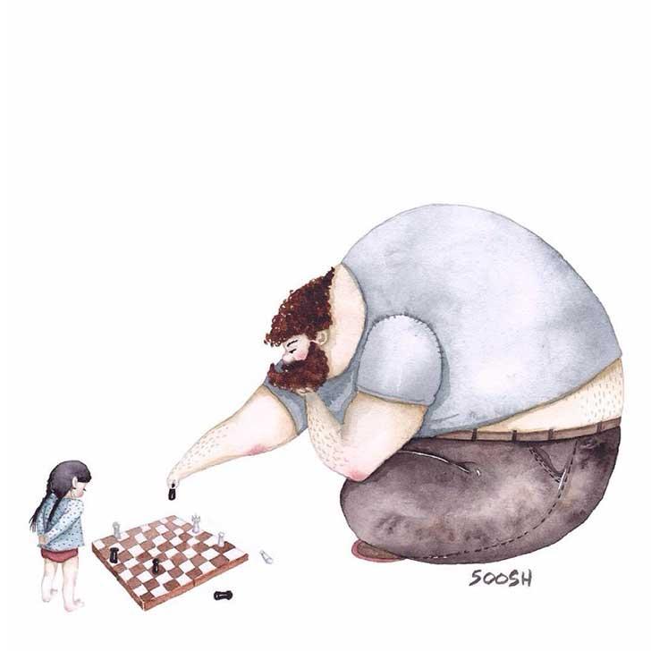ilustraciones papa hija 6