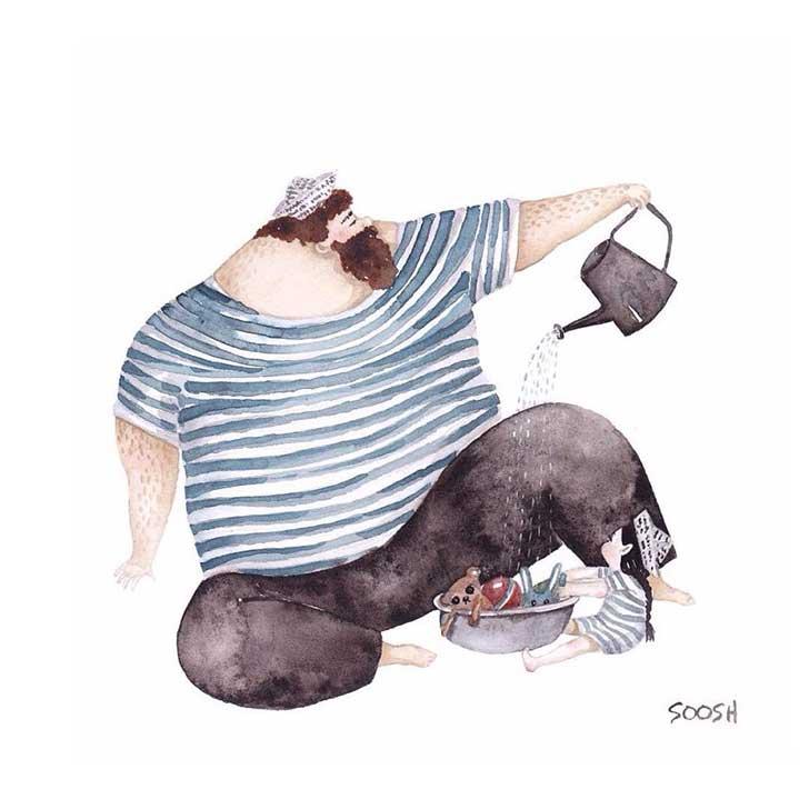 ilustraciones papa hija 9