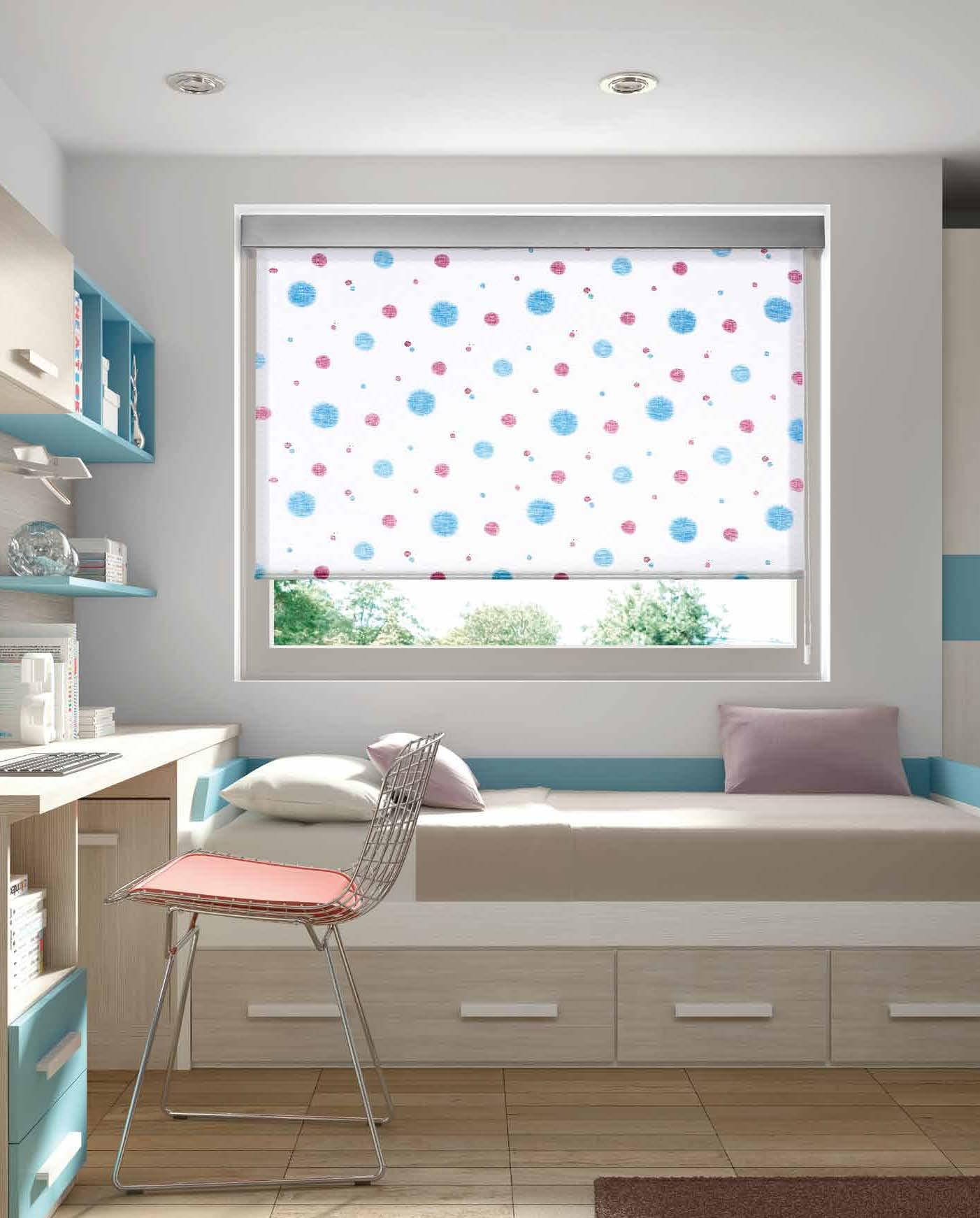Cortinas rollers habitaciones iluminadas para ni os - Estores para habitaciones juveniles ...